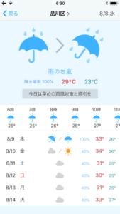 天気予報の詳細